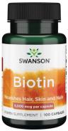 Swanson, Biotin 5 mg, 100 Kapseln
