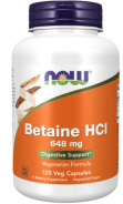 Now Foods, Betain HCl, 648mg, 120 Kapseln