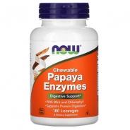 Now Foods Papaya Enzyme 180 Lutschtabletten