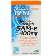 Doctors Best, SAM-e 400, Double-Strength, 60 Tabletten
