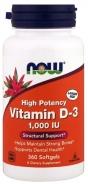 Now Foods, Vitamin D-3, 1000 IU, 360 Softgels