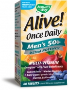 Natures Way Alive! Once Daily Mens 50 plus Multi-Vitamin, 60 Tabletten