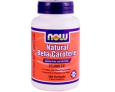 Natural Beta - Caroten 25.000 IU -- 180 Softgels