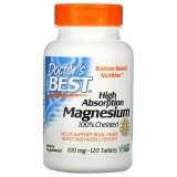 Doctors Best, High Absorption Magnesium, 120 Tabletten