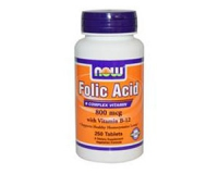 Folic Acid (Folsäure) 800 µg mit Vitamin B 12 - 250 Tabletten