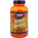 Arginin & Ornithin -  250 Kapseln