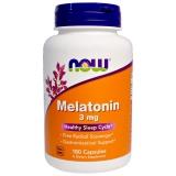 Now Foods, Mel 3 mg, 180 Kapseln
