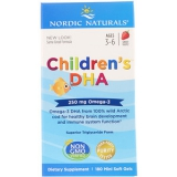Nordic Naturals, Childrens DHA (DHA für Kinder), 250mg, Erdbeere, 180 Mini-Weichkapseln (nur 1 Dose)