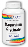 Solaray Magnesium Glycinate - 400 mg - 120 vegetarische Kapseln