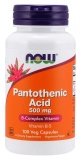 Pantothenic Acid 500 mg, B5, Phanthotensäure - 100 Kapseln