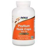 Now Foods Flohsamenschalen, Psyllium Husk 500 mg, 500 Kapseln, glutenfrei