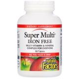 Natural Factors, Super Multi, Iron Free, 90 Tabletten