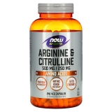Arginine & Citrulline, 500 mg /250 mg, 240 Veg Kapseln