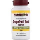 NutriBiotic, Grapefruitsamenextrakt, 250 mg, 60 Kapseln