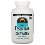 Source Natural, Daily Essential Enzymes, 500 mg, 240 Kapseln
