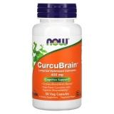Now Foods, CurcuBrain, optimiertes Curcumin, 400 mg, 50 Veg Kapseln