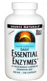 Daily Essential Enzymes -- 500 mg - 240 vegetarische Kapseln