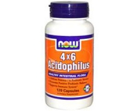 4 X 6 Acidophilus 4 billion 6 species 120 capsules