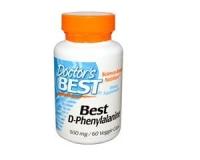 Doctors Best, Best D-Phenylalanine, 500 mg, 60 Kapseln